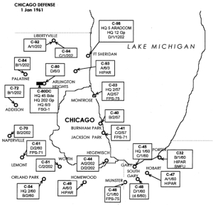 1961 map of Chicago missile sites [wbez.org]