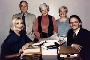 Jeanne Vertefeuille, center, and other members of the team that tracked down Aldrich Ames. [nytimes.com / CIA]